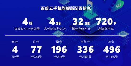 """专业顶配只要1.35元/天!百度发布旗舰级""""云手机""""新品"""