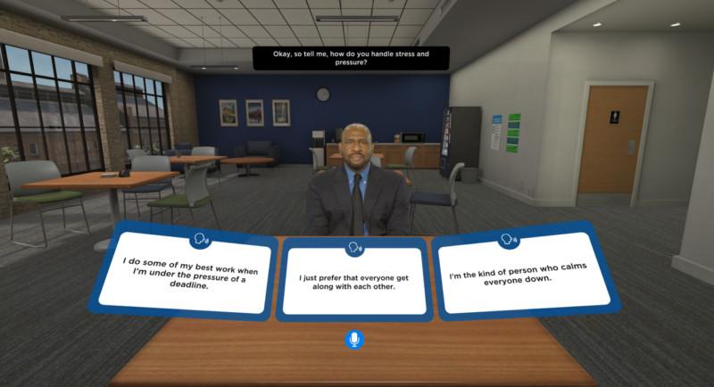 出狱后怎样找工作? 可以试试在这款VR软件下进行模拟面试